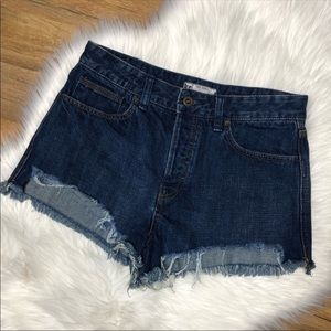 Frwe People Cut Off Frayed Hem Jean Shorts